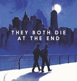 cover description: An illustration of two shadowy figures walking side by side along a pier in New York City. It's nighttime, the sky is dark blue, and the moon and stars are bright.