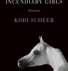 cover description: a white Arabian horse against a stark black background.