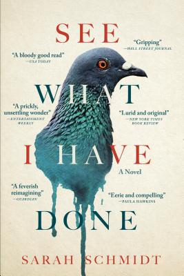 cover description: A pigeon's head seems to melt into a blue blob of dripping paint on a cream-colored background.