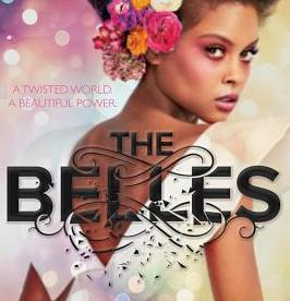 cover description: a Black girl in a fancy dress and makeup with flowers in her hair looks over her shoulder fiercely.