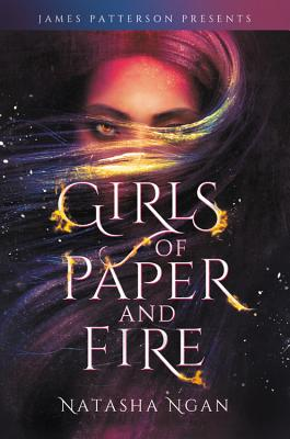 "cover description: A banner reading ""James Patterson Presents"" stretches across the top. It's a colorful illustration of a girl with golden eyes whose rainbow hair is full of sparks."