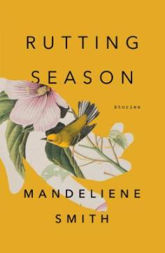 cover description: A mustard yellow background has a cutout in the shape of a hand that features a nature illustration of a pink flower and a yellow bird.
