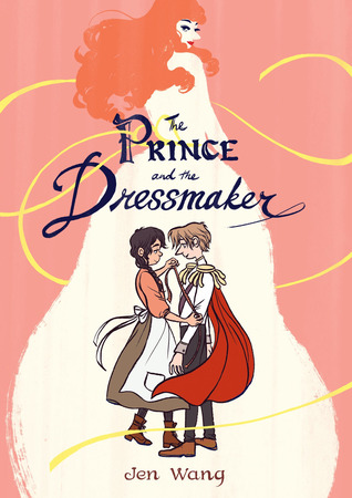 cover description: a prince and a dressmaker stand next to each other in a sweet romantic pose. the background is an image of the prince dressed in a beautiful white dress and red wig.